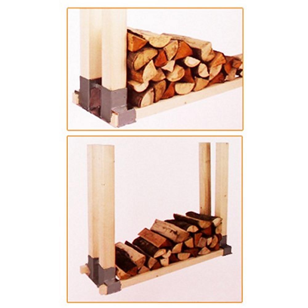 stapelhilfe 2 st brennholz kaminholz holzstapelhalter ebay. Black Bedroom Furniture Sets. Home Design Ideas